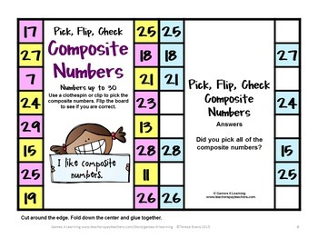 Composite Numbers Clip Cards
