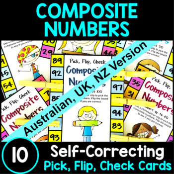 Composite Numbers Pick, Flip and Check Cards [Australian U