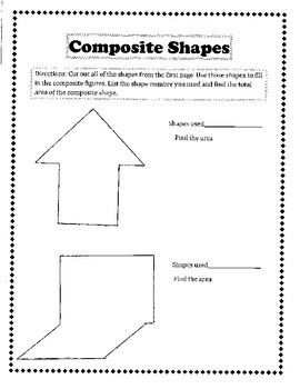 Composite Shapes Hands-on Activity CCSS 6.G.1