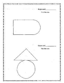 Composite Shapes Activity Extension CCSS 7.G.6