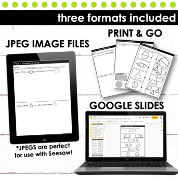 Composite Shapes - First Grade Print and Go