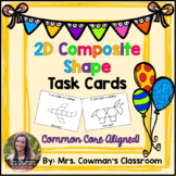 Black and White Composite Shapes: Pattern Block Task Cards