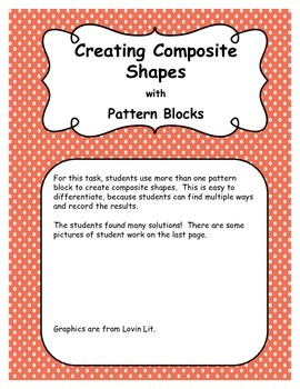 Composite Shapes with Pattern and Attribute Blocks