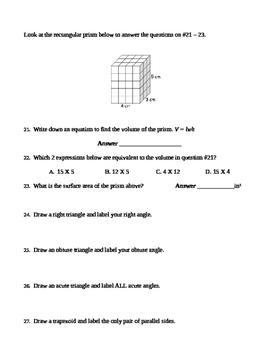 5th Grade Test Prep #3 CCRA, NWEA, PARCC, Common Core, Assessment