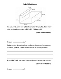 Composite Solids, Volume, Word Problems, Test Prep