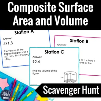 Composite Surface Area and Volume Scavenger Hunt