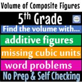 Composite Volume of Figures & Volume Cubic Units Self Graded Google Forms Bundle