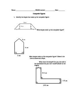 Composite figures worksheet