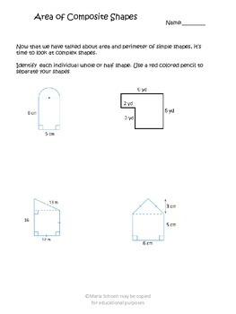 Composite/Complex Shapes Area Discovery Lesson, Quiz, and Worksheets