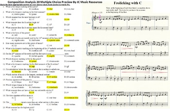 Composition Analysis 20 Multiple Choice