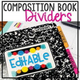 Composition Book Divider Tabs - Interactive Notebooks - ED