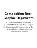 Composition Book Graphic Organizers