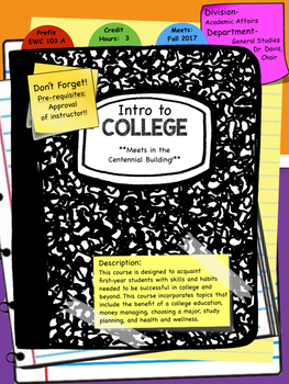 Composition Book Infographic Syllabus Template