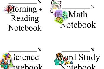 Composition Book labels