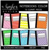Notebooks 1 Clipart {A Hughes Design}