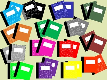 Composition Books - Fun Graphics!  (30 in All)