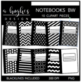 Notebooks 2 Clipart {A Hughes Design}