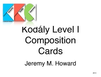 Composition Cards - Kodály Level I