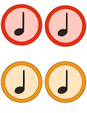 Composition Cards (Quarter Note, Eighth Note Pair, Quarter