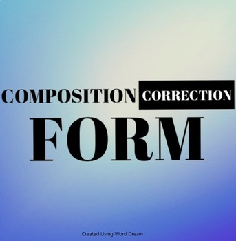 Composition Correction Form
