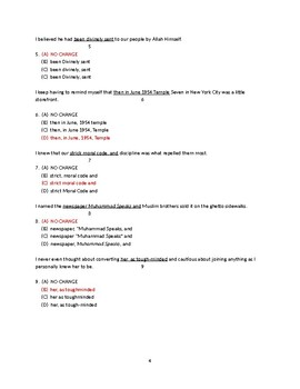 Composition Curriculum based on The Autobiography of Malcolm X - Chapters 13-14