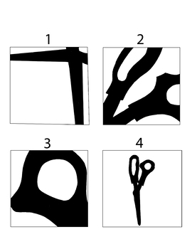 Composition Discussion Visual with 4 Scissor drawings