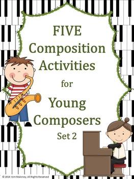 Music Composition: FIVE Music Composition Worksheets Set 2