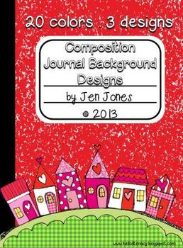 Composition Journal Background Frames {For Personal and Commercial Use}