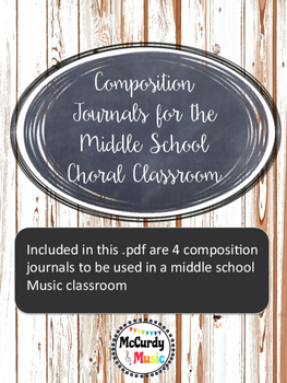 Composition Journal for Middle School Music Classroom
