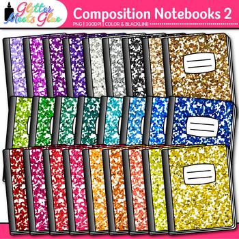 Composition Notebook Clip Art 2   School Clipart for Teachers