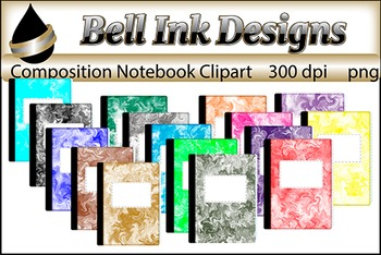 Composition Notebook Clipart