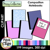 Composition Notebook Clipart (Clip Art) - Missy Colors