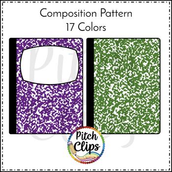 Composition Notebook Clipart (Clip Art)