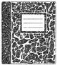 Composition Notebook Clipart * Glitter *