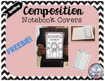 Composition Notebook Cover (Spelling) FREEBIE