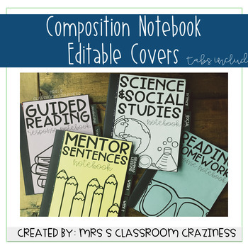 Composition Notebook Covers