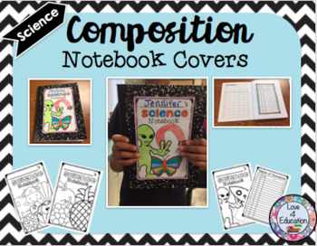 Composition Notebook Covers (Science)
