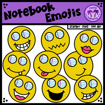 Composition Notebook Emoji Clipart