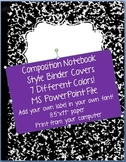 Composition Notebook Style Binder Covers
