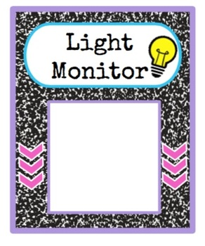 Classroom Jobs Composition Notebook Style- Editable!