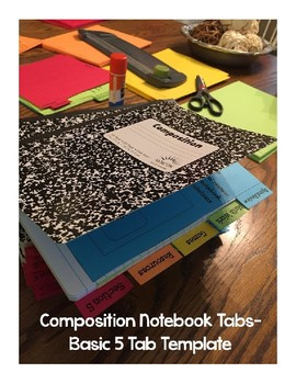 5 Tab Template | Composition Notebook Tabs Template 5 Tabs By Magan Lampard Tpt