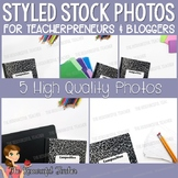 Composition Notebook on White Styled Stock Photos - Produc