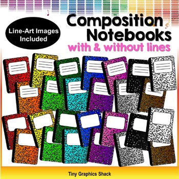 Composition Notebooks Clip Art