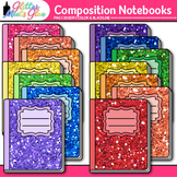 Composition Notebook Clip Art | Back to School Supplies Graphics for Journals 1