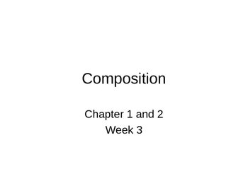 Composition Notes - Photography