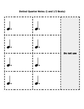 Composition Rhythm Cut-outs and Meter Templates Basic