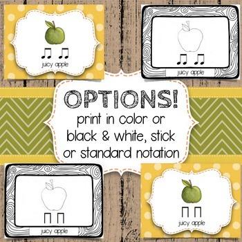 Composition Starter & Rhythm Practice Cards - Autumn/Fall Theme