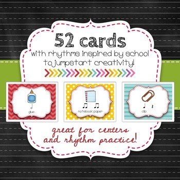 Composition Starter & Rhythm Practice Cards - Back To School Theme