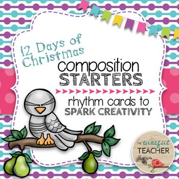 Composition Starter & Rhythm Practice Cards - 12 Days of Christmas