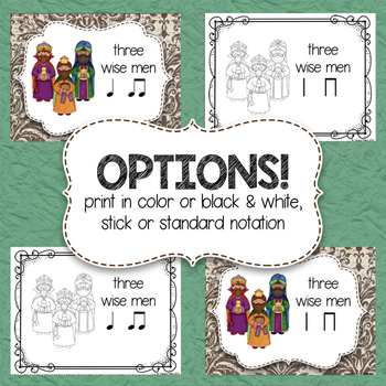 Composition Starter & Rhythm Practice Cards - Nativity Theme